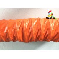 HVAC Systems High Temperature Flexible Duct 8 Inch PVC Round With Iron Buckle Manufactures