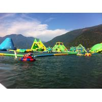 Durable 0.9mm PVC Tarpaulin Giant Inflatable Water Park With Tower And Slide Manufactures