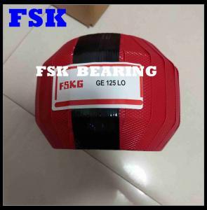 Lubricated GE125 LO , GEEW125ES Spherical Plain Bearing Joint Bearing Radial Load Manufactures
