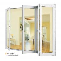 China Double Aluminium Sliding Folding Glass Door With Anodized Silver Frame on sale