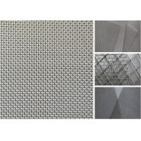 304 316 Stainless Steel Woven Wire Mesh Durable Diamond Nets Bulletproof Security Manufactures