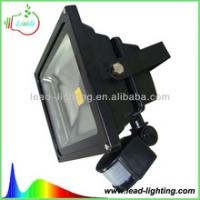 China Black shell PIR IP65 light sensor water proof 10/20/30/50/70/80/100/120/150w LED flood light on sale
