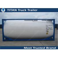 Carbon Steel 40ft Water Tanker Container Liquid Tank Trailers Manufactures