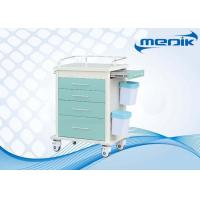 All Drawers Design ABS Hospital Trolley With Defibrillator shelf Manufactures