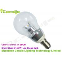 High Lumen 220v Clear Glass 360 Led Household Bulbs B15 With Low Voltage Driver Manufactures