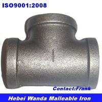 Black malleable iron pipe fitting Tee Manufactures