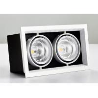 100mm Cut Hole LED Grille Downlight 7W 600lm Super Bright 38 Degree Adjustable Manufactures