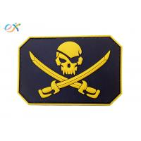 Custom Made 3D Logo Embossing Rubber Morale Patches With Velcro Backing Manufactures