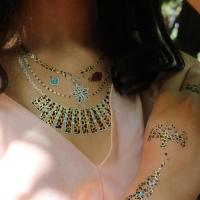 China DIY Temporary Flash Tattoos Glitter Tattoos Products Gold Metallic Body Tattoos on sale