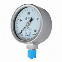 Stainless steel SUS316 pressure gauge/thermometer, corrosion-proof, anti-corrosive Manufactures