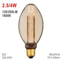 B75 Bulb, Deco Light, E27 LED Bulb, Fashionable Glass Bulb, Candle Light Manufactures