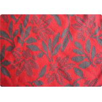 China Lightweight Red Jacquard Dress Fabric Apparel Fabric By The Yard wholesale