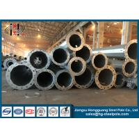 China Direct Buried Galvanized Steel Pole , Transmission Lines Steel Power Pole on sale