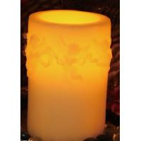 DFL 10602 LED flameless wax candle with 4~8hrs dual timer/angel decorative Manufactures