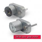 L Shape DC Spur Gear Motor 12v 24v High Torque DC Motor With Threaded Shaft Manufactures