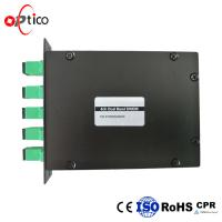 China 4 Channels Mux DWDM WDM Module With 8 Channel Mux 16 Channel 200GHz on sale