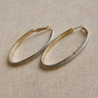 Fashion Jewelry Circle Hoop Oval Earrings, Europe Classic Style, Shining Silver Party Queen Manufactures