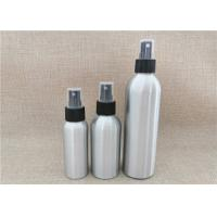 China Silver Color Aluminum Cosmetic Bottles For Cosmetic Packaging Custom Size on sale