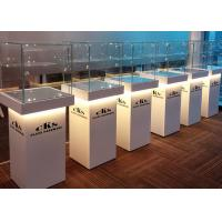 Elegant Wooden Glass Display Cabinets Pre - Assembled Structure With LED Lighting Manufactures