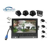 New Arrival 4 Channels HD car Monitor 7 Inch Reversing System with 4 cameras inputs Manufactures