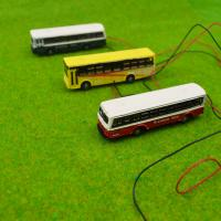 China 1/150 scale model bus Toy Metal Alloy Diecast bus Model Miniature Scale model for train layout scenery on sale