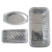 China Three Divisions Disposable 8011 Aluminum Food Containers For Restaurants on sale