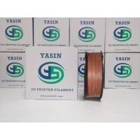 WOOD Metal Filled 3D Printer Filament PLA Red Copperfill Filament For Toys / Crafts Manufactures