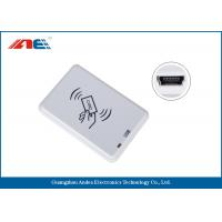 Compact NFC RFID Reader Desktop Square NFC Reader Integrated Key Handling Manufactures