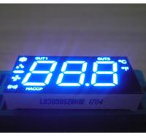 Blue Color Custom LED Display , Triple  Digit 7 Segment LED Display For Refrigerator Manufactures