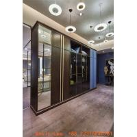 Custom made wardrobe closet built in cabinets open door Armoire with Mirror stand by Metal handle for hotel and villa Manufactures