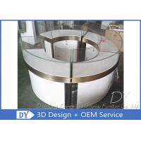 Round Shop S / S Glass Jewelry Display Cases 1325 X 550 X 1000 MM Manufactures