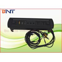 China Coference Hidden Rotating Desk Mounted Power Sockets With USB / RJ45 / VGA on sale