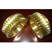Durable Gold Brass Worm wheel / gear hobbing services and CNC Turning Manufactures