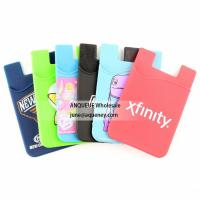 Quality 2020 Silicone Phone Wallet Smart Mobile Pocket with your custom imprint for sale