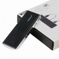 Portable 5200mAh Power Bank, 5V/2A Output, Suitable for iPhone, iPad, Samung, BlackBerry and Sony Manufactures