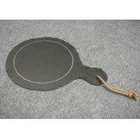 Dark Grey Solid Stone Placemats Slate Paddle Black Rough Edge With Rope Manufactures