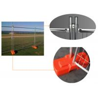 Galvanized Steel Removable Wire Mesh Fence , Temporary Security Fencing Manufactures