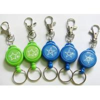 China 32mm Retractable Metal ID Badge Reel , Yoyo Key Holder With Dome Epoxy Sticker on sale