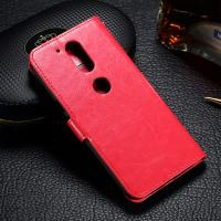 Customized Moto G4 Plus Leather Case , Crazy Horse PU Motorola Flip Cover Manufactures