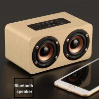 Powerful Wood Wireless Bluetooth speaker1500mAh With TF Card/Voice Prompt Manufactures