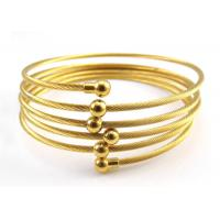 Fashion Hand Bangle Charm Bracelets 18 K Yellow Gold Plated Twist Wire Mesh For
