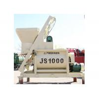 Hydraulic system 1000 liter double shaft JS1000 1 yard concrete mixer with lift bucket Manufactures