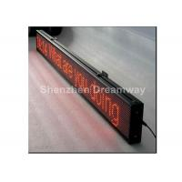 Single Red LED Scrolling Message Display 5V 40A , single line P 10 LED Message Board Signs Manufactures