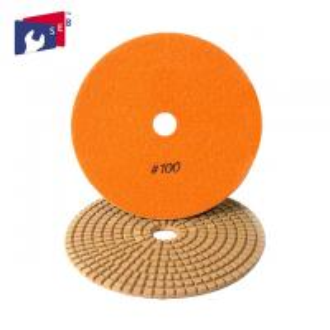 Orange Diamond Stone Polishing Pads , 5 Inch Concrete Polishing Pads Manufactures