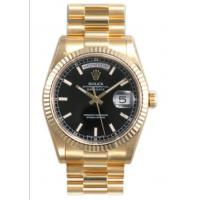 Rolex Day Date Black Index Dial President Bracelet 18k Yellow Gold Mens Watch 118238BBKSP Manufactures