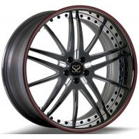 Buy cheap Custom Gloss Black Red Ring 20 Inch 1-Piece Forged Car Rims For Lexus IS TUV from wholesalers
