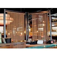 China Decorative Metal Mesh Cascade Coil Drapery Curtains for Outdoor Decoration on sale