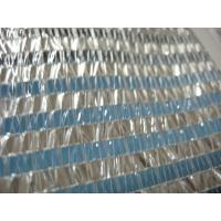 transparent plastic stripes shade cloth for greenhouse with aluminum stripes Manufactures