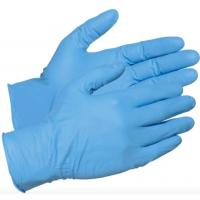 Blue Latex Free Disposable Nitrile Gloves , High Stretch Nitrile Examination Gloves Manufactures