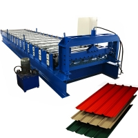 China 686 MM Width Trapezoidal Sheet Roll Forming Machine With Hydraulic Cutting on sale